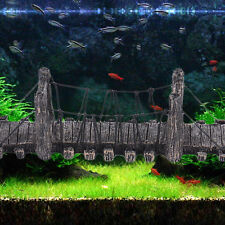 Aquarium Decor Fish Tank Bridge Large Resin Non toxic Underwater Ornaments