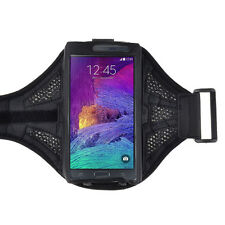 Black Workout Outdoors Sport GYM Armband Case for Samsung Galaxy Note 4 IV