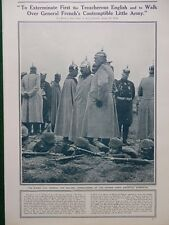 1914 KAISER TO EXTERMINATE BRITAIN'S CONTEMPTIBLE LITTLE ARMY BEF WW1 WWI