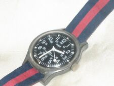 Men's Vintage Timex Military Time Hand Winding Watch Runs