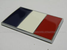 FRANCE FRENCH CHROME CAR BIKE FLAG BADGE PEUGEOT 206 306 407 1007 DOOR FRIDGE
