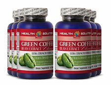 Organic Detox - GREEN COFFEE EXTRACT CLEANSE Anti Aging Products 6 Bottles