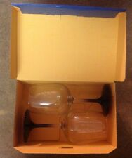 West Va University Boelter Brands 2 Pack Satin Etch Wine Glass - 12 oz. NIOB