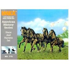 KIT IMEX 1:32 HORSE AND HARNESS SET AMERICAN HISTORY SERIES  ART 775