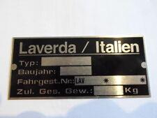 Typenschild id-plate vintage moto Laverda Schild s23