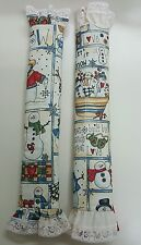 2x Refrigerator Decorative Handles Covers Beautiful Fabric Kitchen christmas