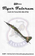 jbr44007/ JBr Decals - Tiger Fulcrum - Czech Air Force MiG-29A - 1/144 - TOPP