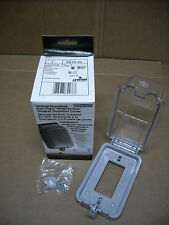 """NEW Leviton 5977-CL Clear Outdoor Weather Resistant """"While in Use"""" Outlet Cover"""