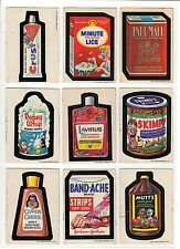 1973 Vintage Topps Wacky Packages 1st Series 1 Complete Set Bandache 30/30 EX+