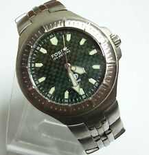 Vintage Green Faced FOSSIL Blue Men's Watch