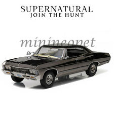 GREENLIGHT 19024 SUPERNATURAL 1967 CHEVROLET IMPALA SEDAN 1/18 BLACK CHROME