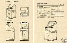 ATARI VIDEO GAME CABINET US Patent Art Print READY TO FRAME!!!!!! Takaichi