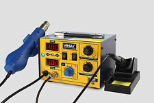 ES-YIHUA 862D SMD HOT AIR REWORK STATION WITH SOLDERING IRON NEW 220V