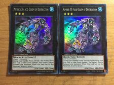 2x Yugioh Number 30: Acid Golem REDU-ENSE2 Limited ~Super Rare NM Fast Shipping!