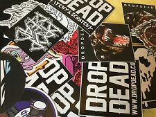 DROP DEAD CLOTHING MIXED 10 x STICKER TSHIRT WEB SITE COLLECTABLE DD OLI SYKES