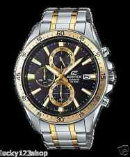 EFR-546SG-1A Black Gold Casio Watches Edifice Analog Steel Band 100m New