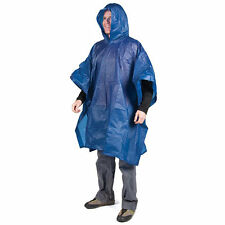Emergency Rain Poncho Adult Hooded Disposable Camping Hiking Survival Gear 45x44