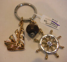 Brighton New WINDSTAR Gold Plated Nautical Key Fob   NWT  E14400