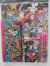 tokidoki Neon Star 11 Piece Stationery Set Notebook Pen Ruler Pencil Eraser NWT