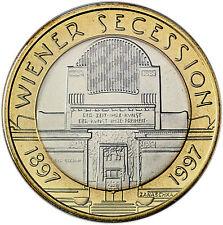 Österreich 50 Schilling 1997 Handgehoben Wiener Secession im Folder