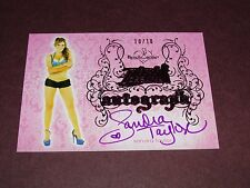 2014 Benchwarmer SANDRA TAYLOR #69 Pink Archive Ink/10 PENTHOUSE LA Confidential