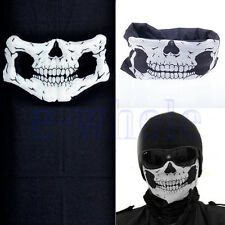 Skull Bandana Bike Motorcycle Helmet Neck Face Mask Paintball Sport Headband TW