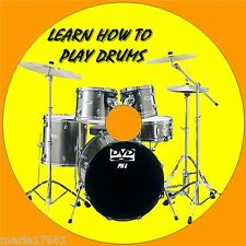 LEARN TO PLAY DRUMS NEW 2 HOURS+ BEGINNERS LESSONS DVD EASY STEP BY STEP GUIDE
