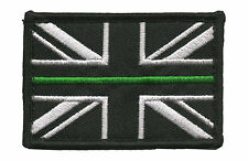 Thin Green Line - Police PSNI - Union Jack Velcro backed patch ( Badge Ireland