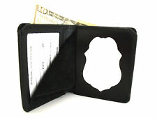 Department Of Defense Police Badge & ID Wallet recessed badge cut out Leather