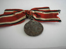 VINTAGE MILITARY MEDA - WORLD WAR ONE PRUSSIAN RED CROSS MEDAL W/ORIGINAL RIBBON