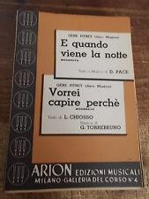 """SPARTITO G. PITNEY """"E QUANDO VIENE LA NOTTE"""" + """"VORREI CAPIRE PERCHE' """""""