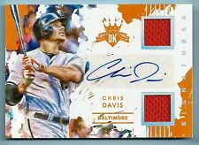 CHRIS DAVIS 2016 DIMAOND KINGS MATERIALS SILVER GAME JERSEY AUTOGRAPH AUTO /10