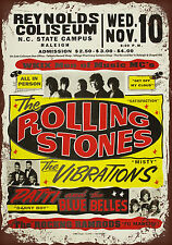 vintage retro style Rolling stones poster image metal sign wall door plaque