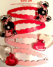 Gymboree Girl Tres Chic Line Hair Snaps Poodles Hearts Barrette/Clip NWT VHTF