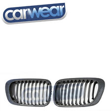 BMW E46 3-Series 2DR '99-'02 CARBON Kidney Grill/Grille