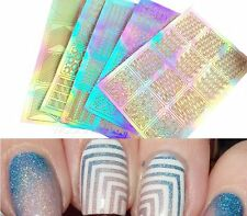 5 Sheet Nail Art Transfer Stickers 3D Design Manicure Tips Decal Decoration Tool