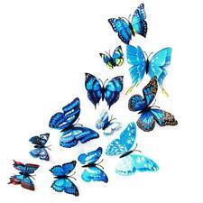 12x 3D Butterfly Wall Sticker Fridge Magnet Room Decor Decal Applique