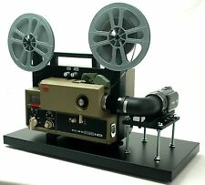 ELMO Super 8 Sound Movie Projector, Telecine Video Transfer  Built-In HD Camera