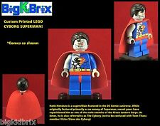 CYBORG SUPERMAN DC Custom Printed LEGO Minifigure with Cape NO DECALS USED!