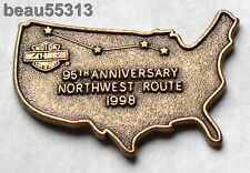 HARLEY DAVIDSON HOG 1998 95th ANNIVERSARY NORTHWEST RIDE HOME VEST JACKET PIN