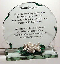 Cellini Gifts Grandmother Perfect Poem Cut Glass Plaque Gift Anniversary Gran