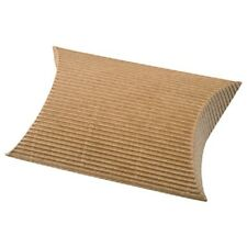 Pack of 10 Brown Rustic Corrugated Pillow Box Wedding Favour Boxes