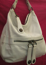 -AUTHENTIQUE grand sac à main GERARD DAREL  blanc  cuir   TBEG vintage bag