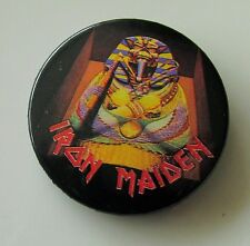 IRON MAIDEN VINTAGE 32mm METAL PIN BADGE FROM 1984 MADE IN ENGLAND VINTAGE RETRO