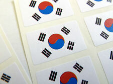 Mini Sticker Pack, Self-Adhesive South Korea Flag Labels, FR158