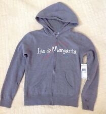 Roxy Catch It Margarita Hooded Gray Zip-Up Jacket Size Women's Small