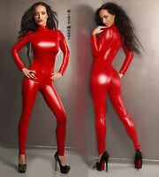 Catsuit Overall Wet Look Clubwear Party Gr. S M 36 38  Body