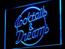 Cocktails & Dreams LED Licht Schild Leuchtschild Werbung Reklame Leuchtwerbung