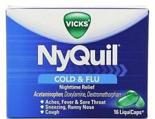 Vicks Nyquil Cold - Flu Relief LiquiCaps 16 ea (Pack of 2)