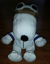 Peanuts Fighter Pilot Snoopy Dog Bomber Jacket Stuffed Animal Plush Toy HALLMARK